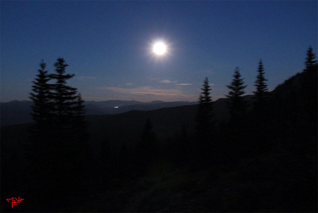 Full Moon Over Half Moon